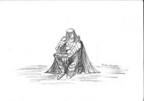 Kneeling knight by parsek76