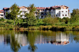 Houses by the lake by parsek76