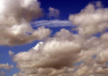 Flying under the clouds by parsek76