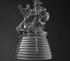 J-2 Rocket Engine(VrayRT testdrive) by LandeTLS