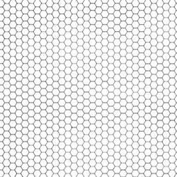 Hexagon Grid Gray + White by FantasyStock