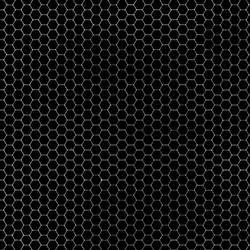 Hexagon Grid Black + Grey by FantasyStock