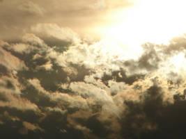 Gold Smoky Sky Sunset 1 by FantasyStock