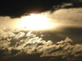 Gold Smoky Sky Sunset 3 by FantasyStock