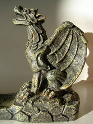 Stone Gargoyle with Wings by FantasyStock