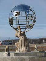 Atlas Fountain Statue by FantasyStock