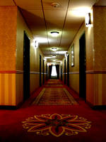 Eerie Hotel Corridor by FantasyStock