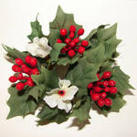 Silk Floral Holly Decoration by FantasyStock