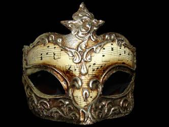 Gold Musical Venetian Mask by FantasyStock