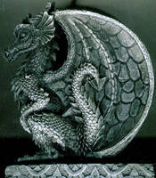 European Dragon Profile Relief by FantasyStock