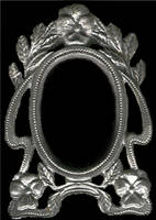 Pewter Floral Picture Frame by FantasyStock