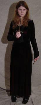 Jodi Black Dress + Dagger by FantasyStock
