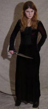 Jodi Black Dress Defensive 1 by FantasyStock