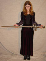 Jodi Black Dress + Sword Pose by FantasyStock