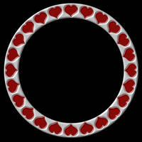 Silvery Crimson Hearts Frame by FantasyStock