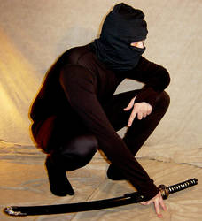 Kelsey Crouched Ninja Pose 3 by FantasyStock