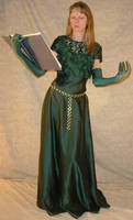 Danielle Green Dress + Book 2 by FantasyStock