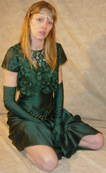 Danielle Green Dress Kneeling by FantasyStock