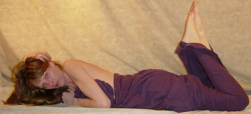 Danielle Purple Mermaid Pose 2 by FantasyStock