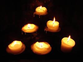 6 Pillar Candles Burned Down 1 by FantasyStock