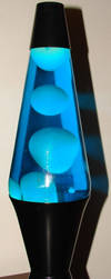 Blue Lava Lamp Melted Wax 18 by FantasyStock