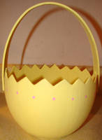 Easter Yellow Egg Shell Basket by FantasyStock