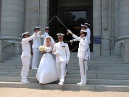 Navy Wedding Sword Archers 4 by FantasyStock
