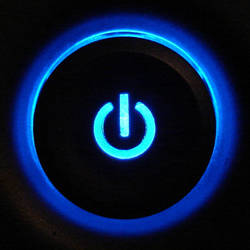 Blue Pavilion Power Button 1 by FantasyStock