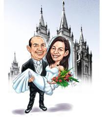 wedding caricature by kusanagisensei