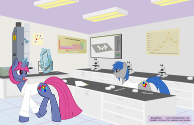 Brony@Home Protein Folding Poster by tiwake