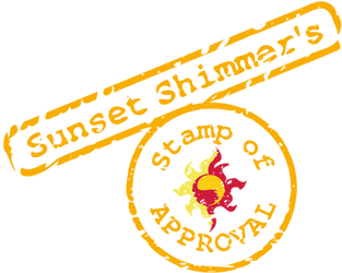 Sunset Shimmer Stamp Of Approval by tiwake