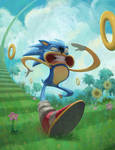 Sonic SPEED by KendallHaleArt