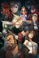 Final Fantasy 7 by KendallHaleArt