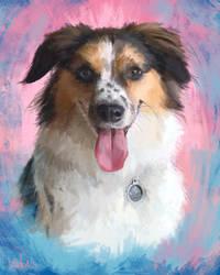 Puppy portrait by KendallHaleArt