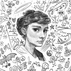 Audrey doodle by KendallHaleArt