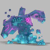 Request: Cube Golem by Little-Serg39