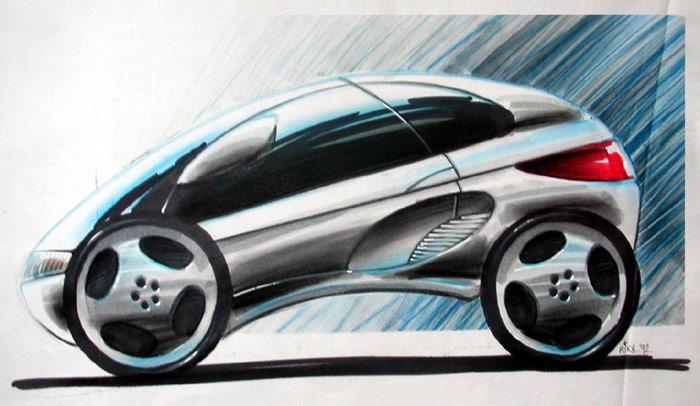 Car Design Concept Sketches 02 by Popgrafix