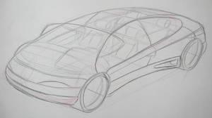 Car Design Presentation Sketch by Popgrafix
