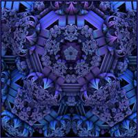 blue to purple by GLO-HE