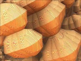 In striped pattern by GLO-HE