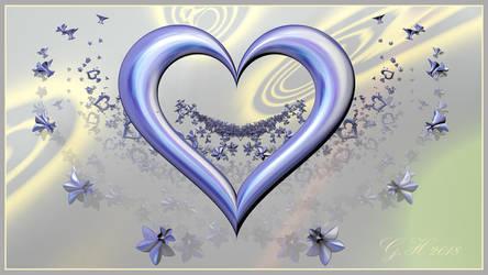 Heart not always red today in blue by GLO-HE