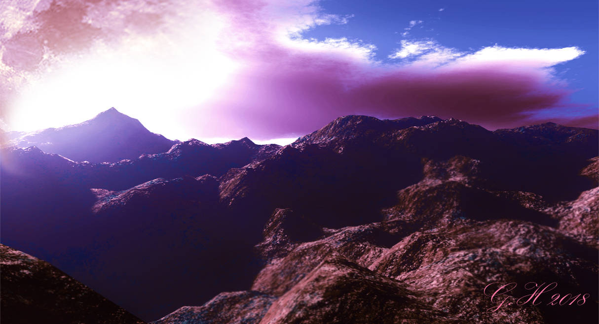 Morning hour in the Alps by GLO-HE