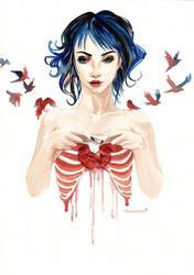 Underneath - the shape of my Heart by Mondlichtfalter