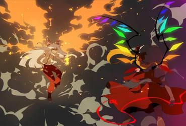 EX fight by Ann606