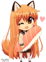Chibi Fox by DAV-19