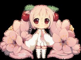 Chibi Sakura Miku by DAV-19