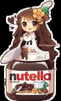 Chibi Nutella chan by DAV-19