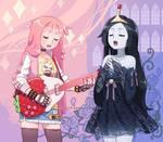 Queen Bubblegum and Vampire Princess by DAV-19