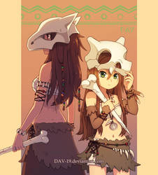 Cubone and Marowak by DAV-19
