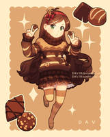 Mabel and chocolate by DAV-19